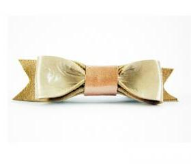 Leather bow barrette, bow hair clip, bow barrette, bow french barrette, leather barrette, leather hair clip, beige bow